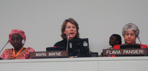 Marg Mayne Speaking UN HQ Dec. 5, 2011