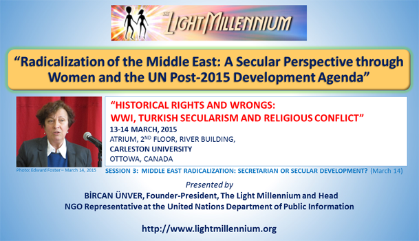 Bircan Unver, A Secular Perspective through Women and the UN Post-2015 Development Agenda