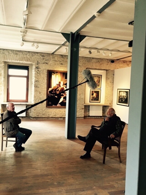 Ara Guler at the Arte Gallery, bacground, Guler's Picasso Photo
