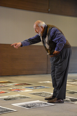 Ara Guler is selecting his photo for his retrospecive exhibition (2015)