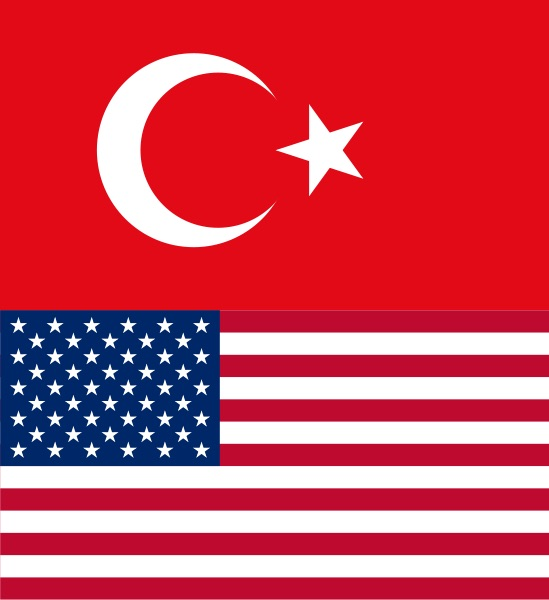 Turkish-American flags