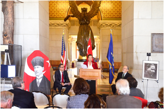 Bircan Ünver, Hartford Capitol, CT, Turkish Republic and Flag Day - Oct. 28, 2016
