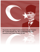 SNETACA Turkish Republic and Flag Day at Hartford Capitol, Programme Cover