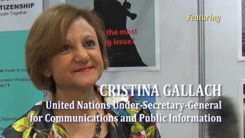 Cristina Gallach, UN Under-Secretary for the Communications and Department of Public Information